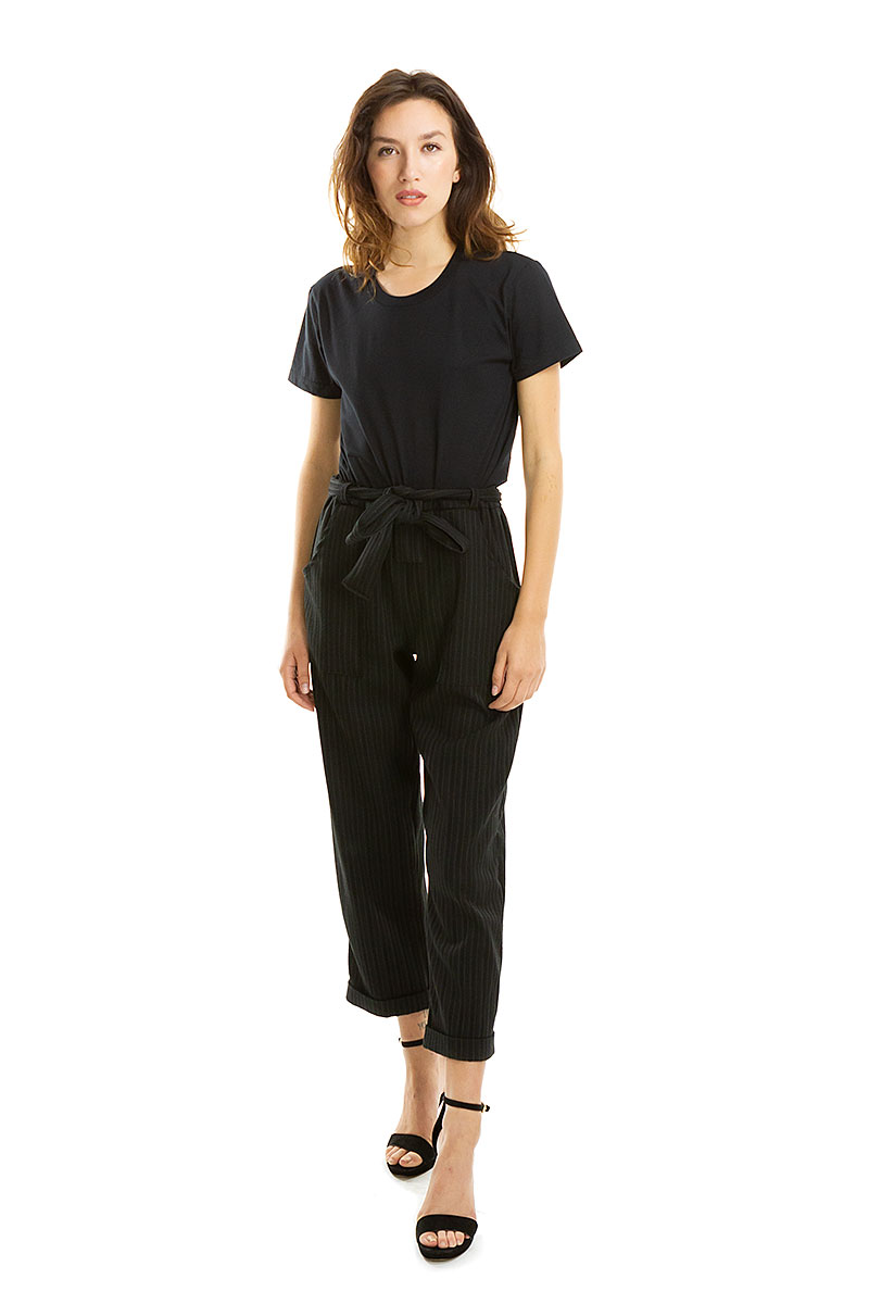 Black Pinstripe Long Island Pants