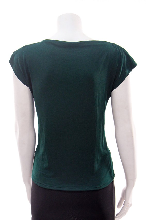 Green Hare Cowl Neck T-shirt