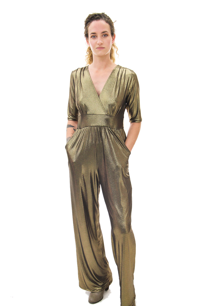 Gold Cleo Jumpsuit