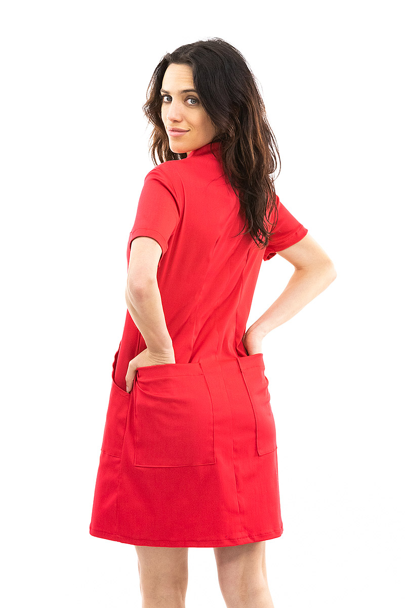 Red Coverall Dress