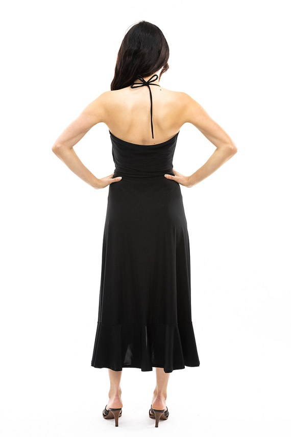 Black Scarlet Halter Dress
