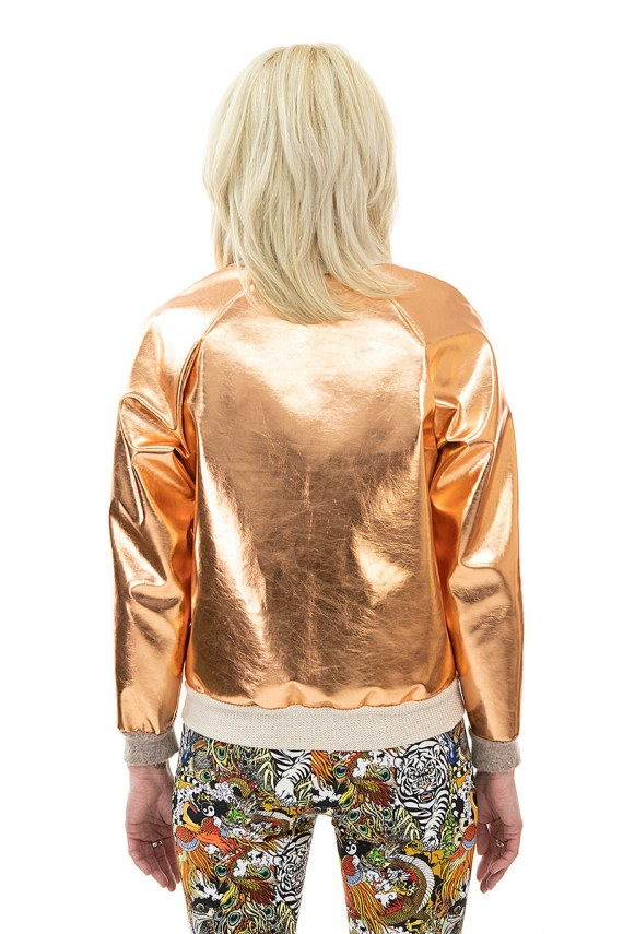 Rose Gold Bomber Jacket