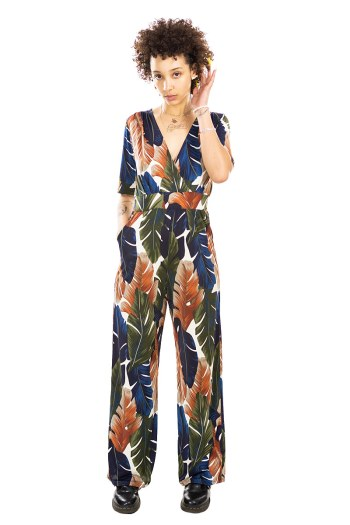 Palm Leaf Cleopatra Jumpsuit
