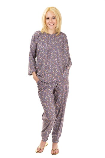 Thermal floral pajamas