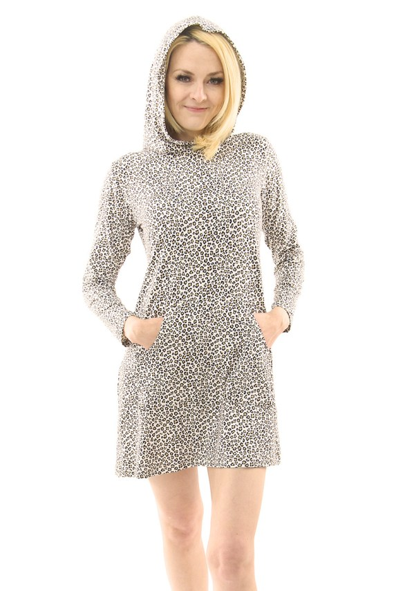 Baby Cheetah Hoodie Dress