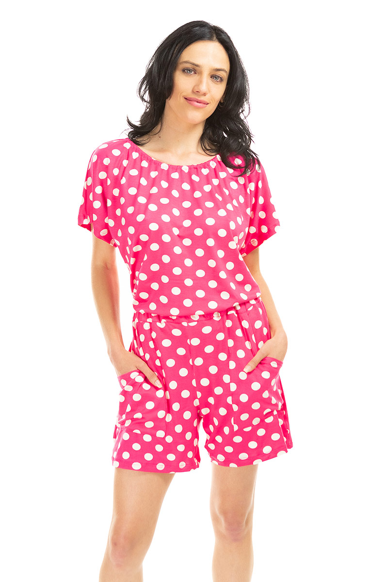 Pink Polka Dot Short Jams