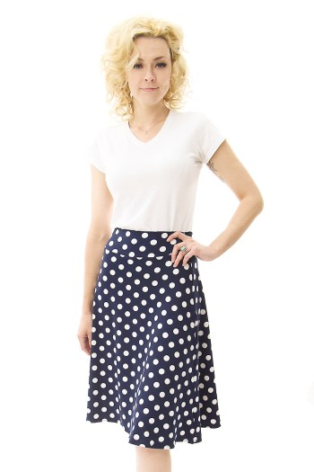 Navy Dot Cleo Skirt