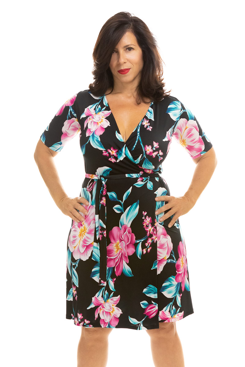 North Shore Nights Wrap Dress