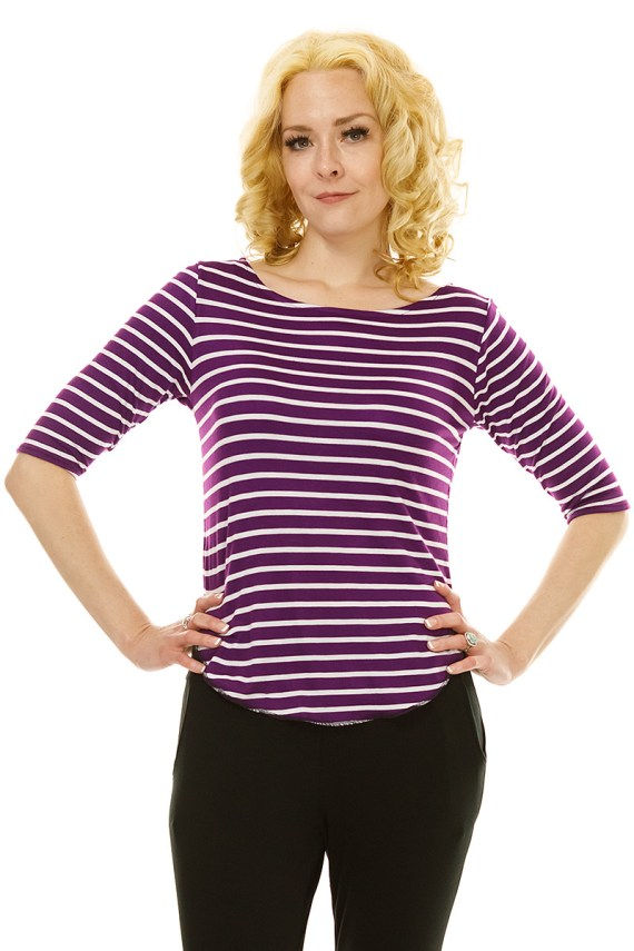 Purple Stripe Top