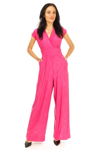 Magenta Veronica Lake Jumpsuit