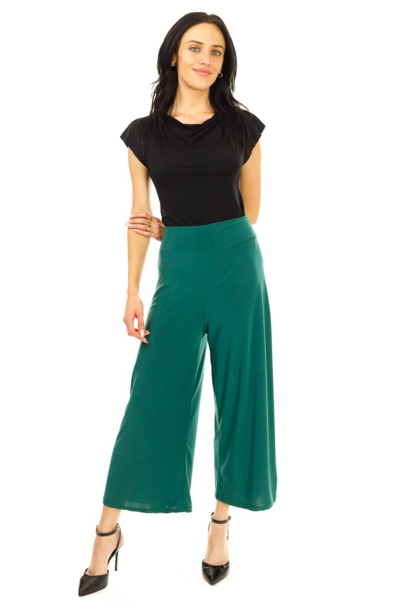 Forest Green High-Waisted Pants