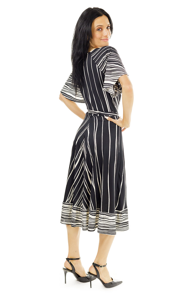 Black and White Reed Scarlet Dress
