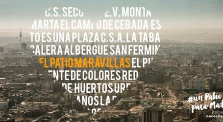 #UnPatioparaMadrid    CAMPAÑA DE SOLIDARIDAD CON EL PATIO MARAVILLAS   Domingo 1/Noviembre