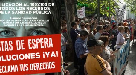 Concentración Confluir Sanidad y Pregunta de la diputada Carmen Sanjosé en la Asamblea de Madrid