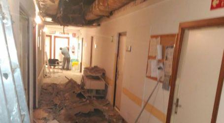 Se derrumba un techo del 12 de Octubre