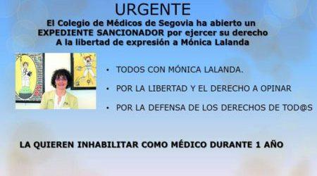 Solidaridad con Mónica Lalanda: la quieren inhabilitar como médico durante 1 año
