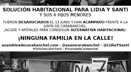 Solución habitacional para Lidia y Santi. ¡Niguna familia en la calle!