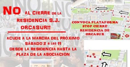 No al cierre de la residencia San José. Sábado 2 a las 11:00h. MARCHA desde la Residencia