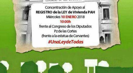 #UnaLeydeTodas. Concentración de apoyo LEY de vivienda de la PAH