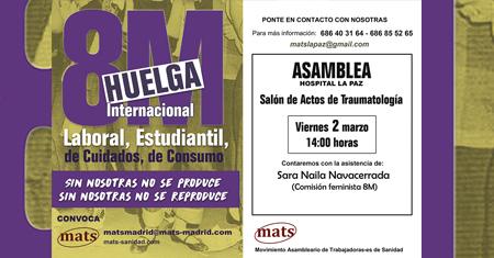 Asamblea en La Paz el viernes 2 de marzo