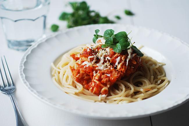 pastasås röda linser