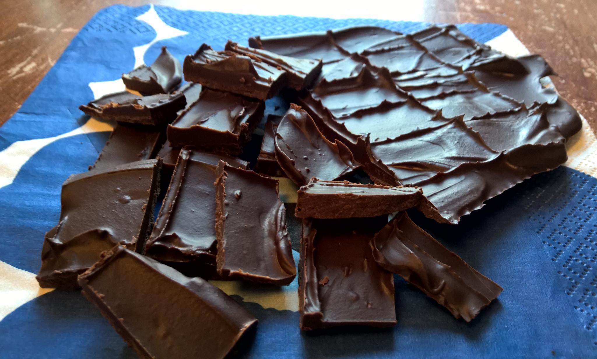 hur gör man egen choklad