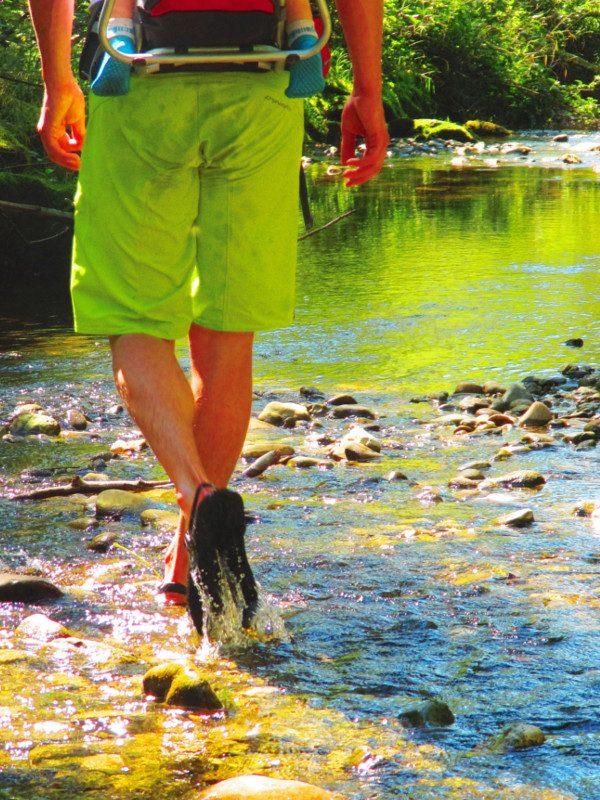 Luna Sandals auf dem Duracher Wasserweg
