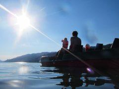 Tretboot ideale Schwimmbegleitung für das Training im Freiwasser