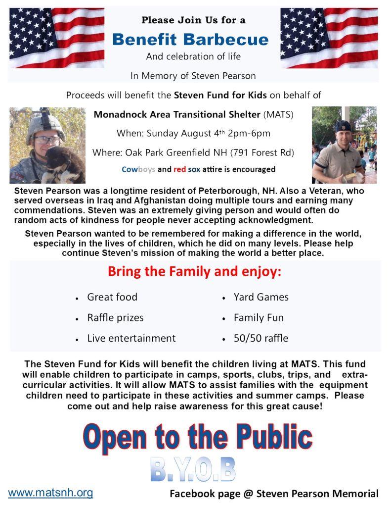 Steven Memorial Benefit Barbecue