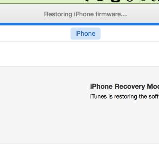 restoring iphone firmware