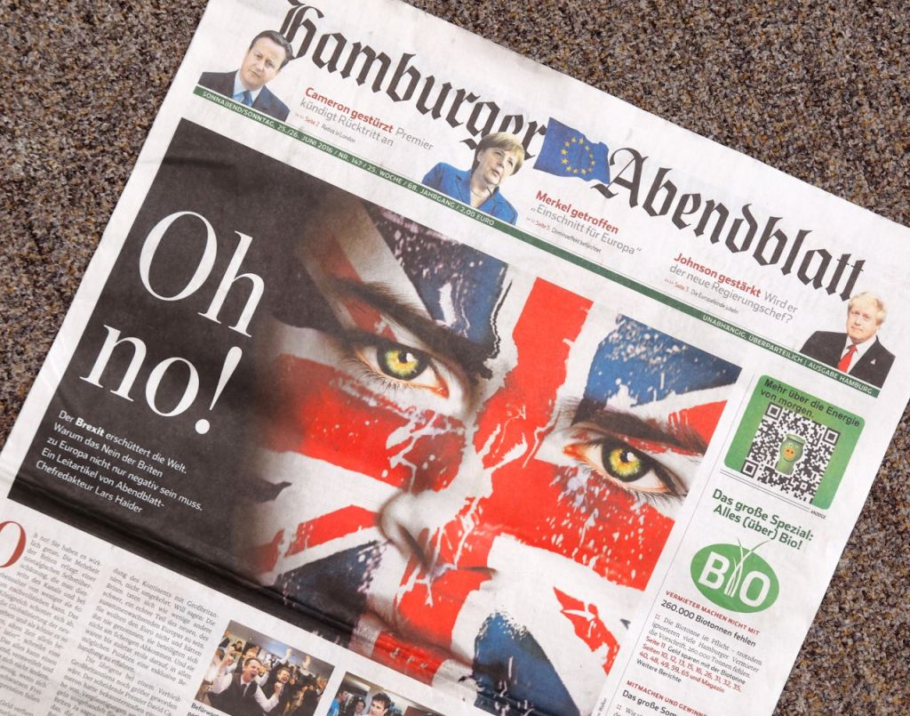 ハンブルガー・アーベントブラット紙(ドイツ)6月25/26日週末版の1面