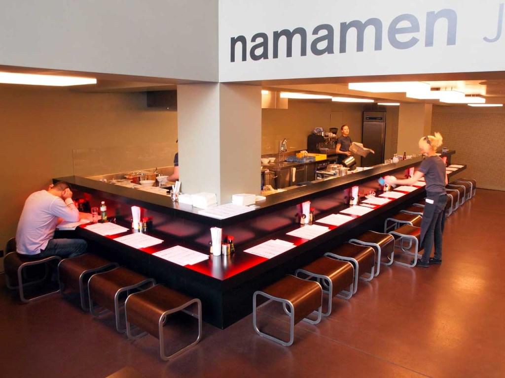 """バーゼルのラーメン専門店""""NAMAMEN""""、スイス・バーゼル、2014.03.08. © Matsuda Masahiro"""