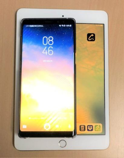 Galaxy Note8とiPad mini 4