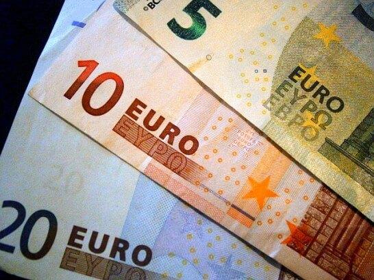 5ユーロ・10ユーロ紙幣・20ユーロ紙幣