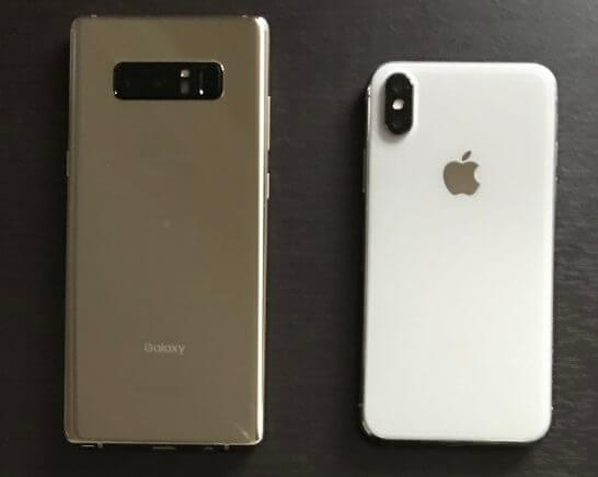 AndroidとiPhone X