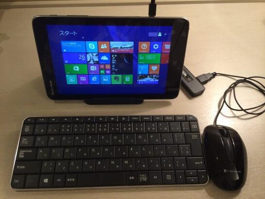 Lenovo Miix 2 8とBluetoothキーボードとマウス