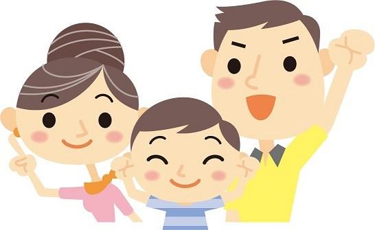 3人家族の図