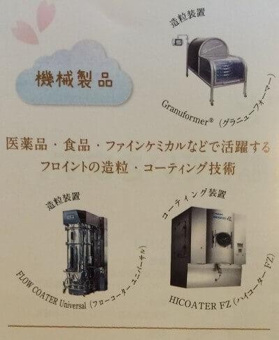 フロイント産業の機械製品