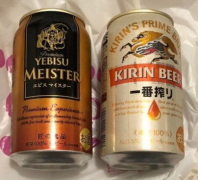 JRE POINT払いで購入したビール