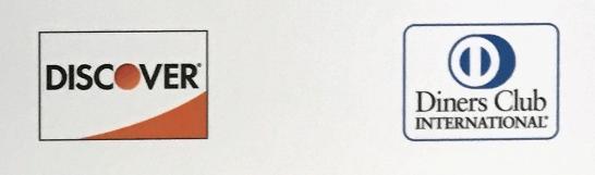 DISCOVERとダイナースクラブのロゴ