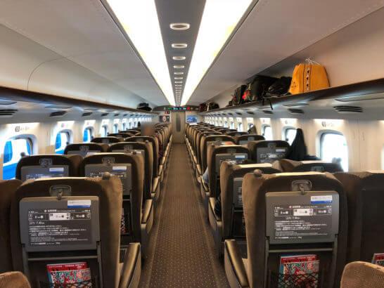 東海道新幹線のグリーン車の車両