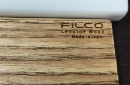 FILCO ウッドパームレストの「made in JAPAN」の刻印