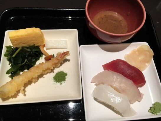 ヒルトン東京ベイの天ぷらとお寿司