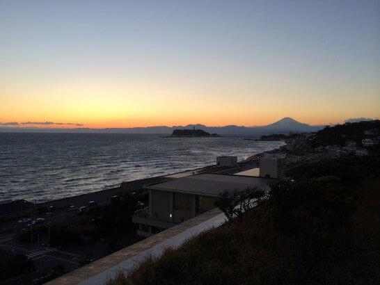 鎌倉プリンスホテルの夕暮れの景色
