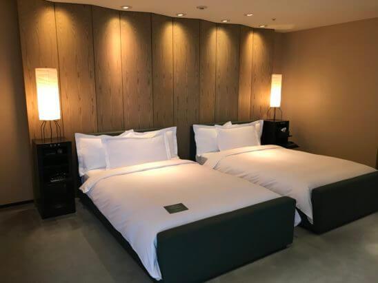 パークハイアット東京のスイートルームのベッド