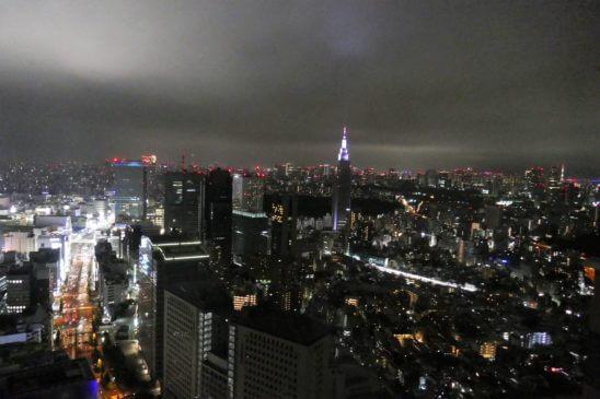 パークハイアット東京のスイートルームの夜景