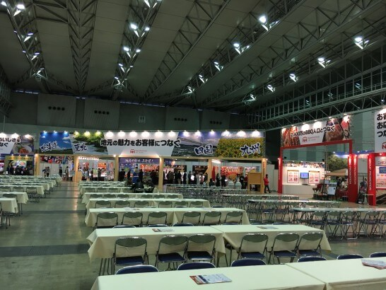 日本ハムグループの展示会の会場