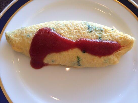鎌倉プリンスホテルの朝食のオムレツ