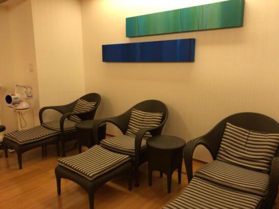 コンラッド東京 水月スパ&フィットネスの休憩スペース