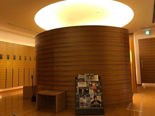 コンラッド東京 水月スパ&フィットネスの着替えルーム